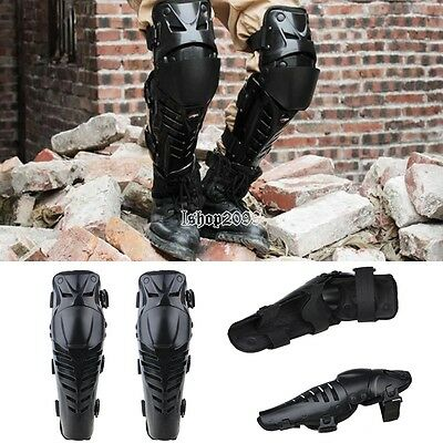 1 PAIRS MOTOCROSS KNEE SHIN GUARDS MOTO ARMOUR GENOUILLèRES PROTECTIVE GUARDS