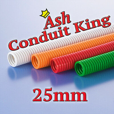 25mm Polypropylene Flexible Conduit Cable tidy LSOH Various colours 1-50M