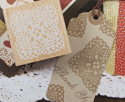 Lace Stamp Diary Stamps Wooden Rubber Stamp Set Deco Stamps