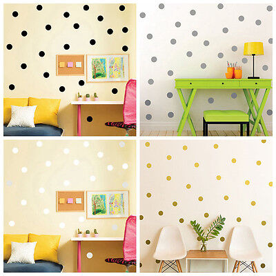 Round Dots Wall Sticker Baby Kids Nursery Wall Decals Home Decor Multi-color 6GE
