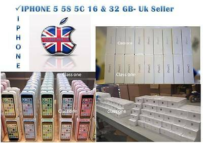 NEW CONDITION IN SEALED BOX APPLE IPHONE  4S 5 5S 5c & 6 16 GB &32GB UNLOCKED