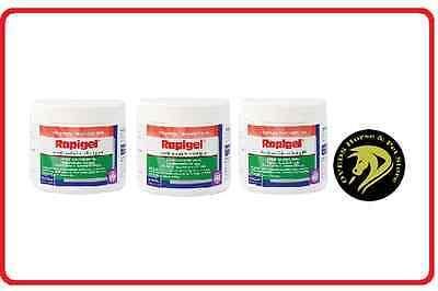 RAPIGEL Muscle & Joint Relieving Gel 250g For Horses and Dogs x 3 Tubs