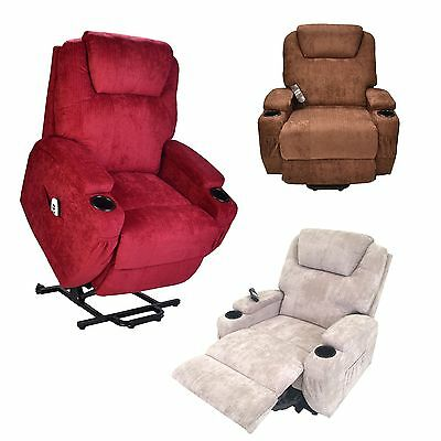 Burlington fabric dual motor electric riser recliner mobility lift chair