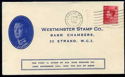 14th Sept 1936 KEVIII COMMEMORATIVE FDC Westminster Stamp Co