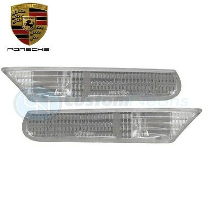 New Pair Clear Side Repeaters Markers For PORSCHE Boxster 986/987 1996-2004