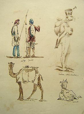 India Raj Indian Jaut Soldiers, Camel, Shakespeare W/Col Major Hutchinson 1837