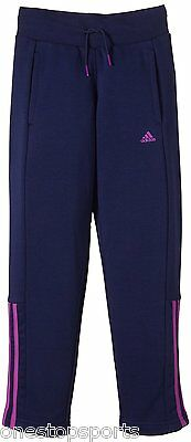 adidas girls blue tracksuit bottoms. Jogging bottom. Track pant. Various sizes