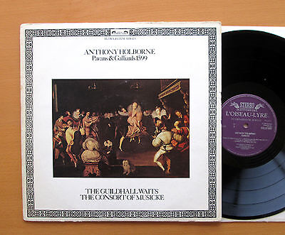 DSLO 569 Anthony Holborne Pavans & Gallieards 1599 Guildhall Waits NM/VG +insert
