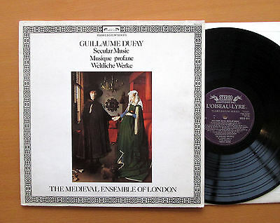 DSLO 611 Guillaume Dufay Secular Music Medieval Ensemble Of London NM/VG insert