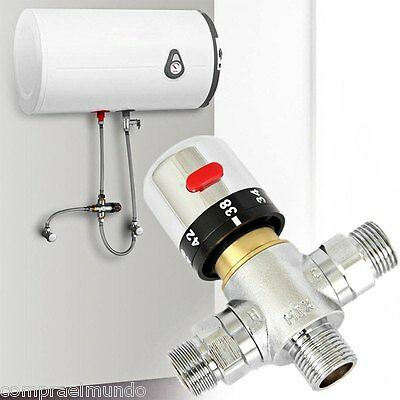 Brass G1/2 Thermostatic Mixing Valve Solar Faucet Water Heater for Bidet Sprayer