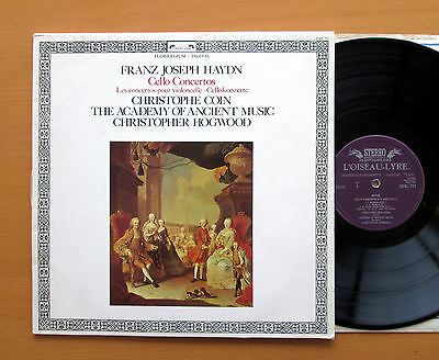 DSDL 711 Haydn Cello Concertos Christophe Coin Academy Ancient Music 1983 EX/VG