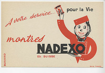 Ancien buvard montre nadexo suisse groom tours illustration publicité SUISSE