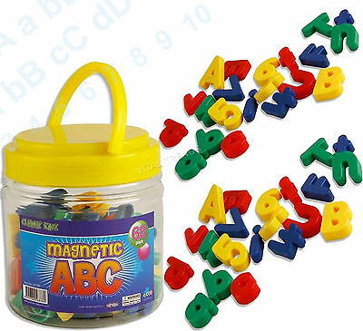 68x Magnetic Alphabet Letters Lower Case & Maths Numbers Fridge Magnets Gift Set