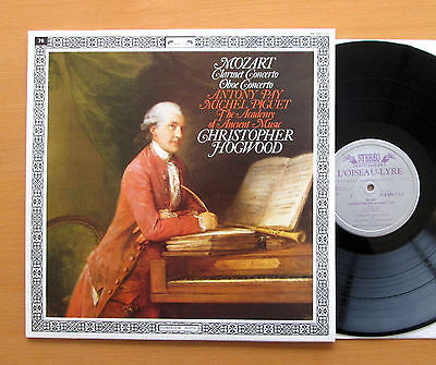 414 339-1 Mozart Clarinet Oboe Concertos Christopher Hogwood NEAR MINT + insert