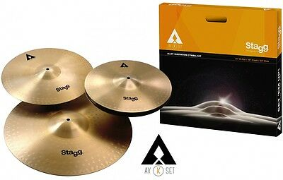 Stagg AXK Becken Set - 14'' HH, 16'' Crash, 20'' Ride