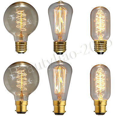 All Style E27/E14/B22 Edison Bulbs Bayonet Screw Retro Antique Industrial Light