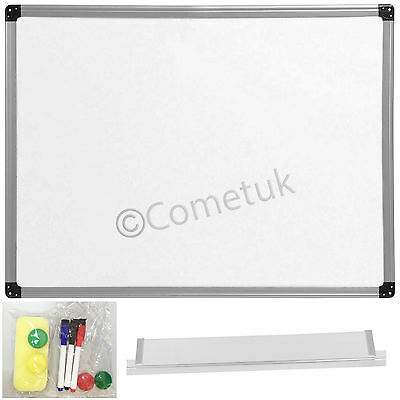 1200x900mm Magnetic Dry Wipe WhiteBoard Notice Memo Board For Office School Home