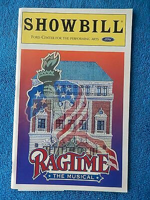 Ragtime - Ford Center Theatre Playbill - Opening Night - January 18th, 1998