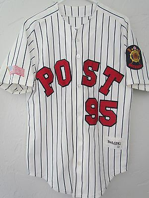 American Legion Delong Authentic Pinstripe #14 Baseball Jersey Post 95 Size 40