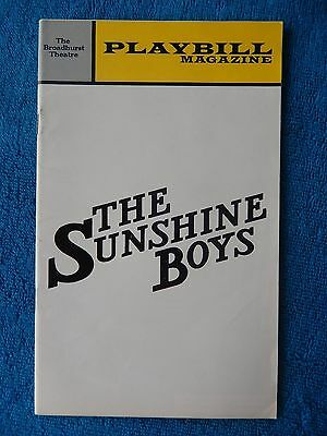 The Sunshine Boys - Broadhurst Theatre Playbill - January 1973 - Jack Albertson