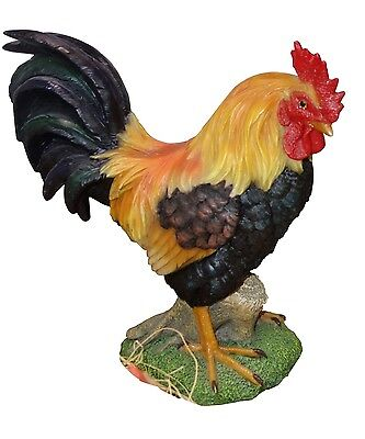 Rooster Statue 10 Inch Outdoor Patio Decor Yard Garden Bird