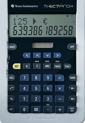 2x Texas Instruments ti-ec7pro+ Plus / calculatrice