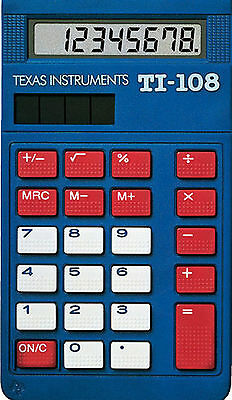 2x Texas Intruments ti-108 ORDINATEUR DE BUREAU CALCULATRICE