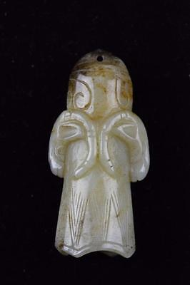 Chinese Carved White Jade Buddhist Ritual Bell