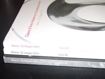 Lot of 3 Porro & Co. AUCTION CATALOGS art collections - Milano, Italy - May 2012