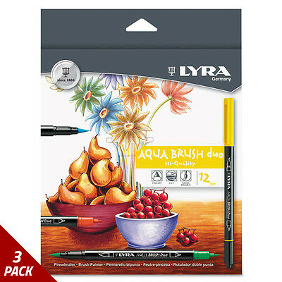 LYRA Dual Tip Marker Assorted 12ct [3 PACK]