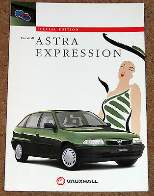 1996 Mk3 VAUXHALL ASTRA EXPRESSON Sales Brochure - Special Edition Model