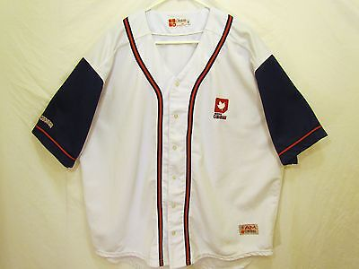 Molson Canadian Vintage Two Toned Embroidered Authentic Baseball Jersey Size Xl