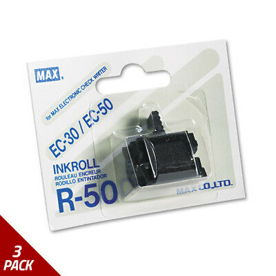 Max R50 Replacement Ink Roller Black [3 PACK]