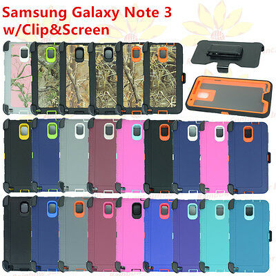 For Samsung Galaxy Note 3 Case w/(Belt Clip fits Otterbox Defender) w/ Screen