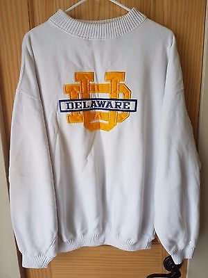 University Of Delaware Ncaa Vintage Embroidered Heavy Knit Sweater Men's Size L