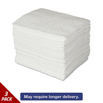 SPC MAXX Enhanced Oil-Only Sorbent Pads .3gal 15w x19l White 100ct [3 PACK]