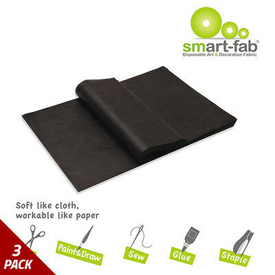 Smart-Fab Smart Fab Disposable Fabric 9 x 12 Sheets Black 45ct [3 PACK]