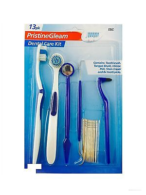 Dental Oral Care Kit Dentist Pick Tongue Brush Floss Harps Teeth Cleaner