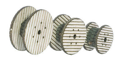 Noch 14438 TT Laser-Cut mini Set of 3 Cable reels NIP