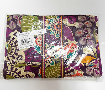 1 - Changing Pad Clutch - PLUM CRAZY - 100% Authentic - Vera Bradley NWT