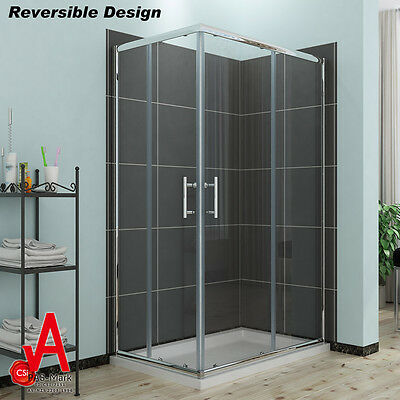 1000x800x1900mm Brand New Framed Shower Screen Enclosure Square Quadrant Cabin