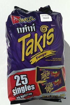 "TAKI'S Fuego Mini Rolled Corn Tortilla Hot ""Barcel"" 25 mini bags"
