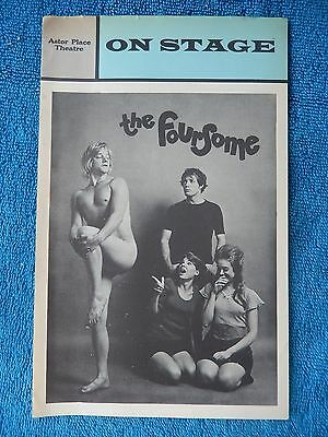 The Foursome - Astor Place Theatre Playbill - November/December 1973 - Cowles
