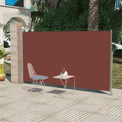 New Patio Retractable Side Awning 180 x 300 cm Brown 100% Polyester Steel