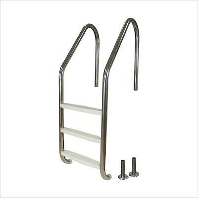 Brand NEW 3 Step Stainless Steel Swimming Pool Ladder In Ground Steps For Pools