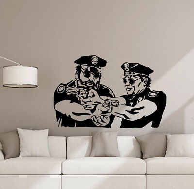Police Wall Decal Funny Cops Vinyl Sticker Policeman Poster Detective Decor 882