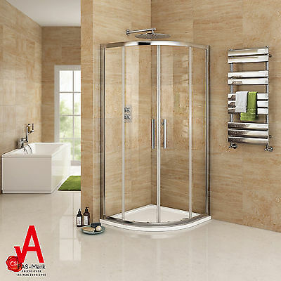 900x900x1900mm Round Sliding Curved Shower Screen Cubical 6mm Tempered Glass