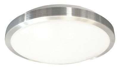 30w LED Oyster Downlight Fixture Fitting Silver Trim 40cm (MSS)