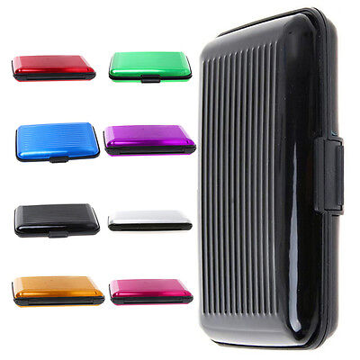 New Wallet Business ID Credit Card Case Holder Anti RFID Scanning Card Holders