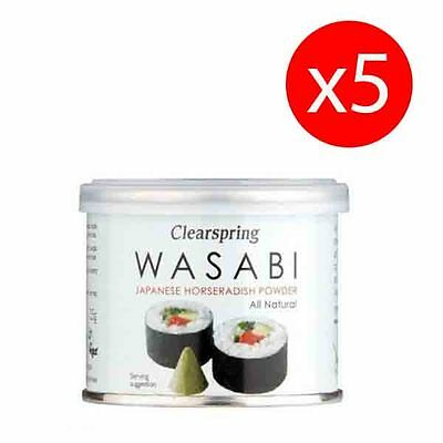 PACK 5 unds WASABI EN POLVO 25 g CLEARSPRING